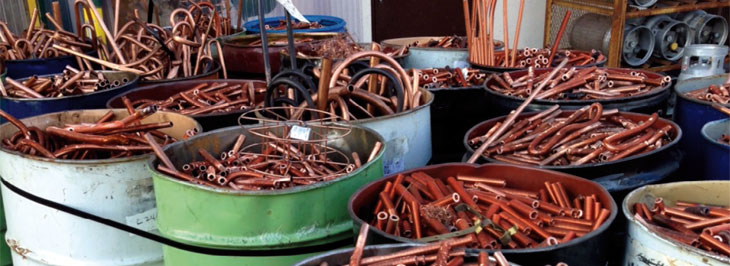 Recycled copper and brass markets are improving
